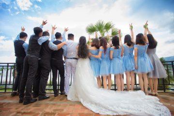 Licht en geluid op een bruiloft